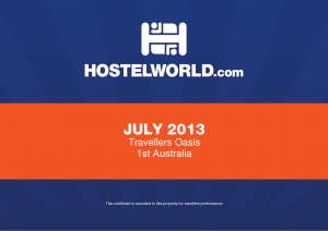 Hostel World Award Winner