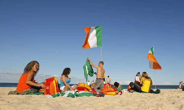 irish at beach