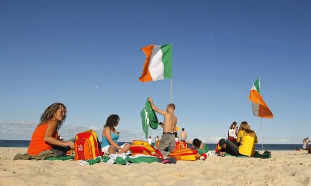 irish at beach
